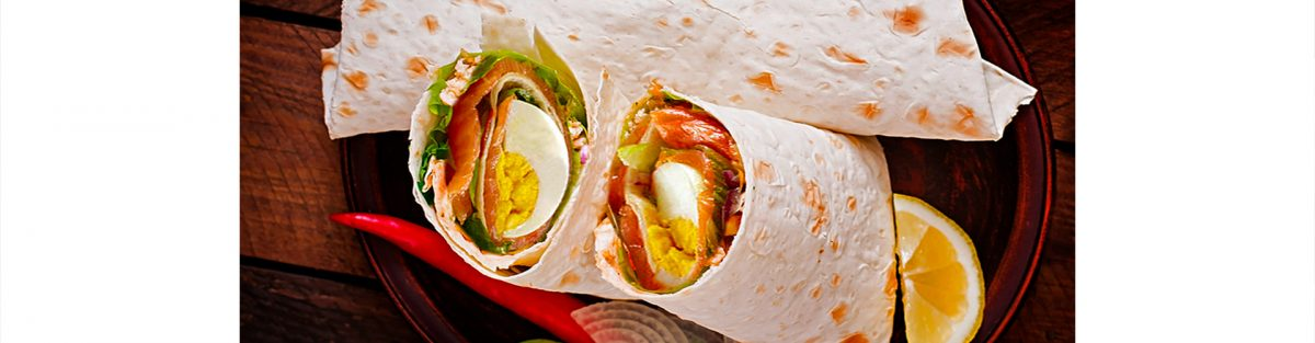 mustard with champagne wrap salmon