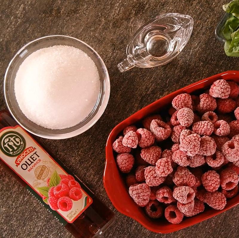 raspberry sorbet Vinoceti vinegar