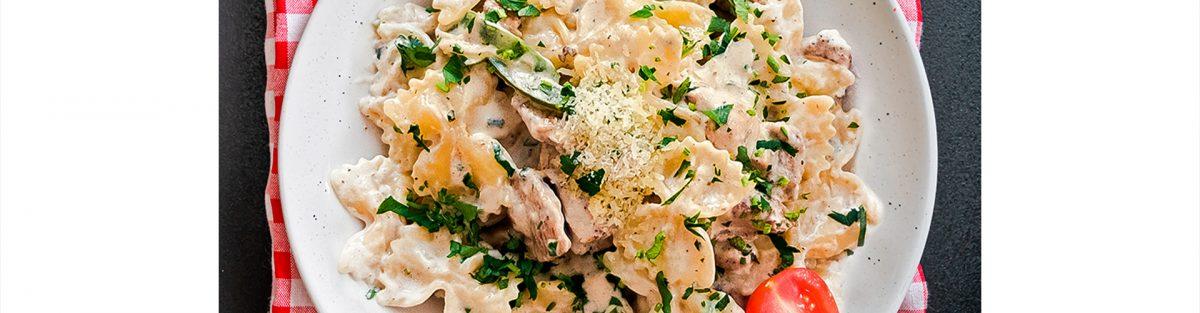 медена горчица паста пиле фарфале