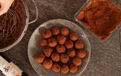 Шоколадови трюфели с балсамов Vinoceti от смокиня